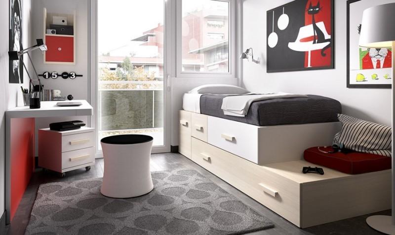 Sofa cama para habitacion juvenil simple diseos for Conjunto dormitorio juvenil