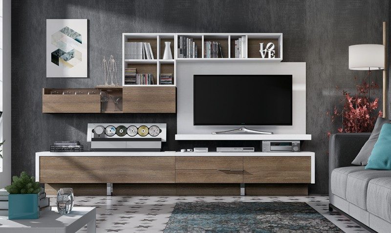 Fotos de muebles de salon arte romera c muebles de saln coleccin valeria fabricado en roble - Conjunto muebles salon ...