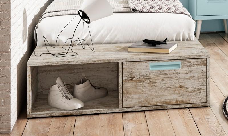 Muebles para cama cama con cajones base sommier para - Muebles rey sofa cama ...