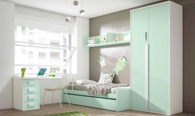 Armarios empotrados juveniles literas juveniles e infantiles armarios dormitorio pintados para Dormitorios con armarios empotrados