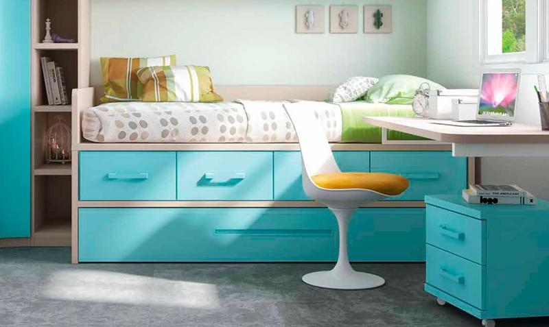 Camas con cajones debajo cama nido compacta juvenil for Camas con cajones baratas