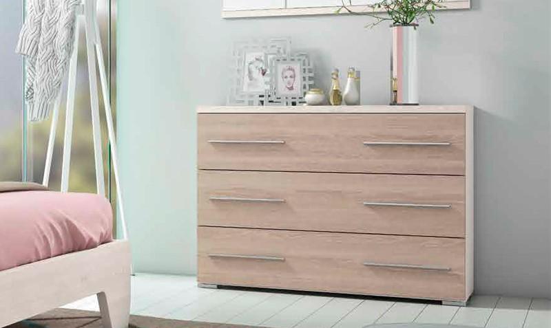 Comodas dormitorio modernas cmoda y espejo en color for Patas para comodas