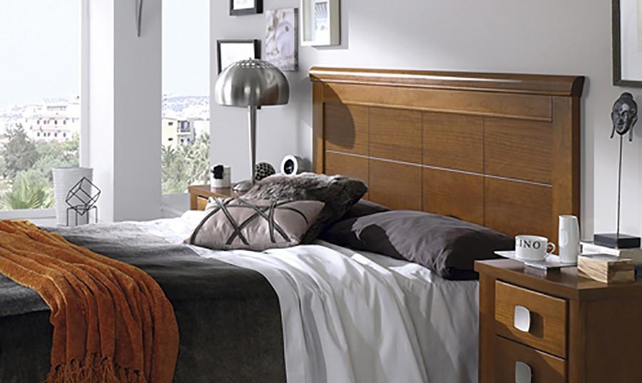 Cabezero de cama cabecero listones blanco estilo - Cabecero de cama de madera ...