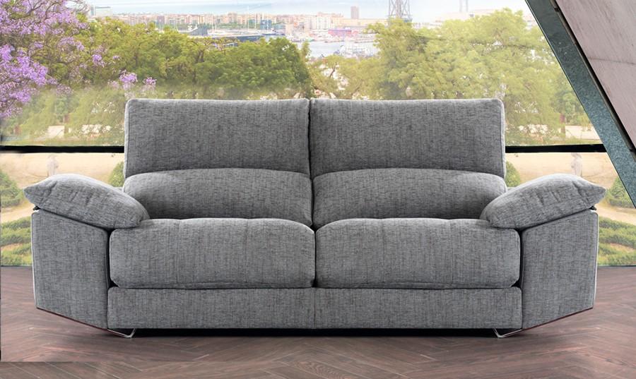 Sofa 3 plazas gris idea de la imagen de inicio - Muebles rey sofas ...