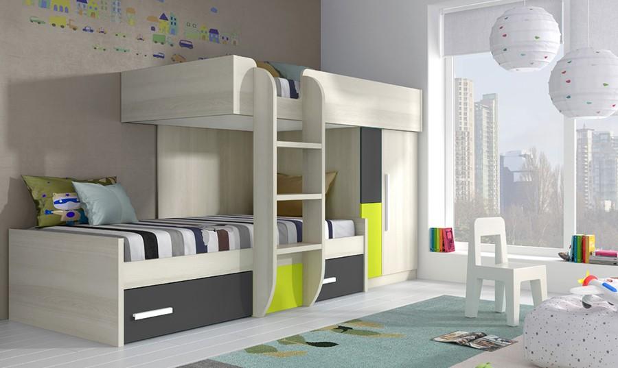 Dormitorios individuales - Muebles rey dormitorios juveniles ...