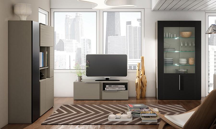 Muebles para tv en madera americanos for Muebles rey salones
