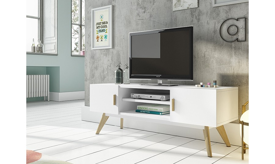 Muebles de tv for Mueble para tv blanco