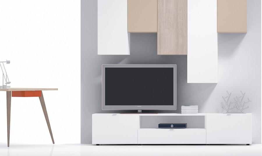 Mueble televisor moderno elegant mueble para tv moderno - Mueble moderno para tv ...