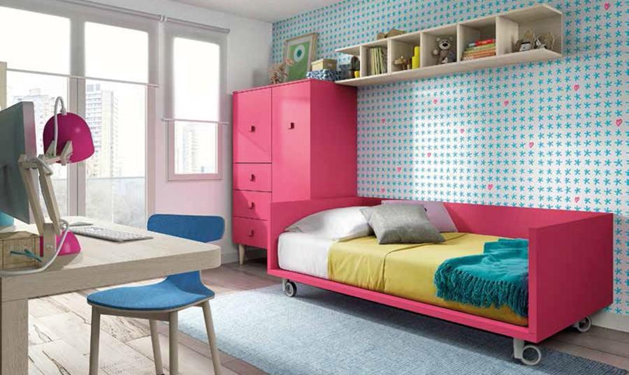 Camas de madera juveniles cortinas puntos cama madera for Cama nido color madera