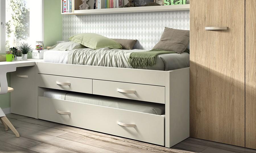 Dormitorio juvenil para dos finest dormitorio para dos by for Camas nido ofertas