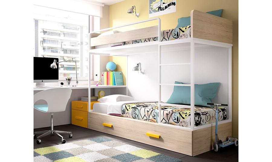 Tipos de literas cama tipo litera twin sobre full skylar for Bautista muebles y decoracion