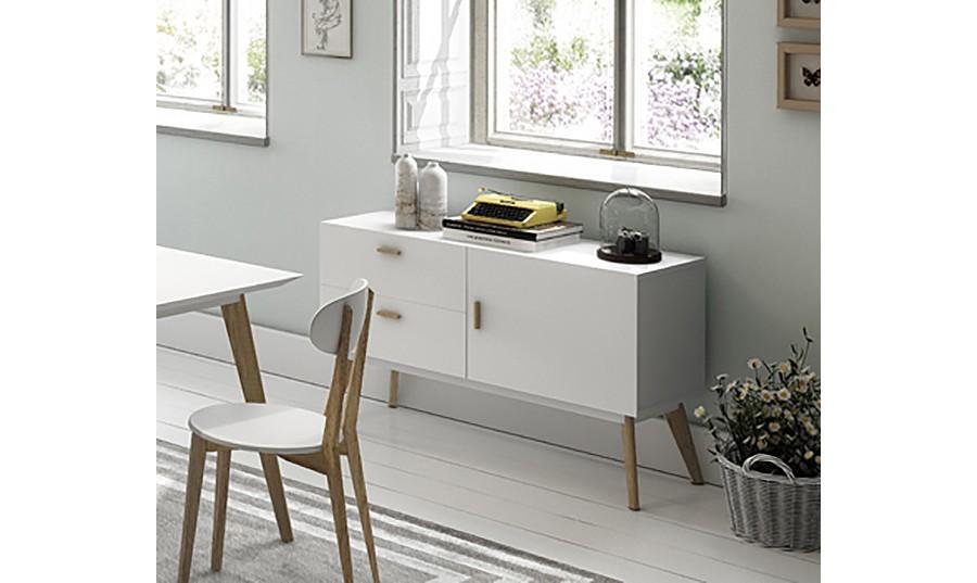 Mueble blanco moderno salon comedor - Aparadores de diseno moderno ...
