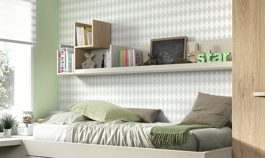 Estanterias habitacion infantil cmoda a modo de cambiador - Estanterias para dormitorios ...