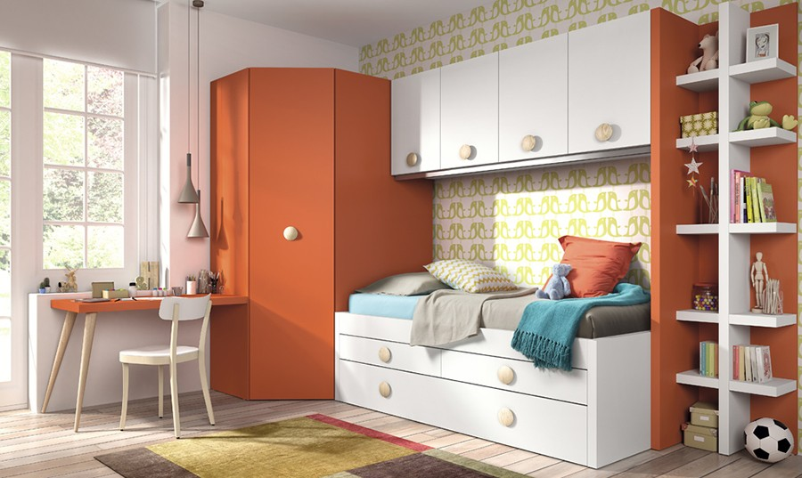 estantera vertical dormitorio juvenil niko
